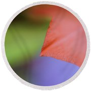 Natural Primary Colors Round Beach Towel
