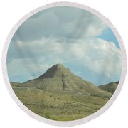 Natural Pyramid Round Beach Towel