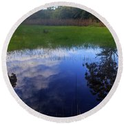 Natural Reflections Round Beach Towel