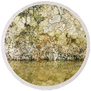 Round Beach Towel featuring the photograph Natural Stone Background by Torbjorn Swenelius