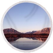 Natural Symmetry Round Beach Towel by Happy Home Artistry