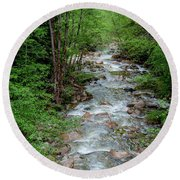 Naturally Pure Stream Backroad Discovery Round Beach Towel