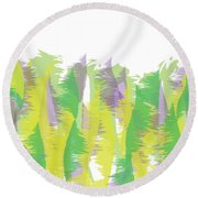 Nature - Abstract Round Beach Towel