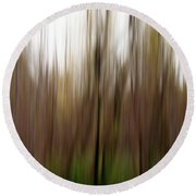 Nature Abstract No. 01 Round Beach Towel