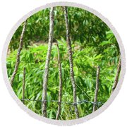 Nature And Wire Round Beach Towel