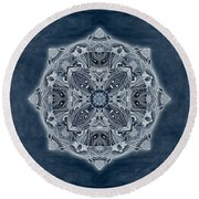 Nature Blueprint Round Beach Towel
