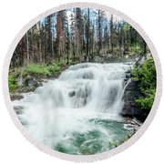 Round Beach Towel featuring the photograph Nature Finds A Way by Margaret Pitcher