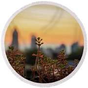Nature In The City Round Beach Towel