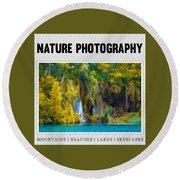 Nature Photography Collection Round Beach Towel by Modern Art Prints