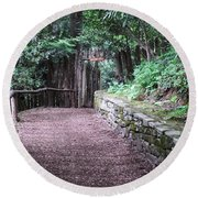 Round Beach Towel featuring the photograph Nature Trail by Cathy Harper
