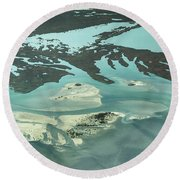 Natures Art On Barnegat Bay Round Beach Towel