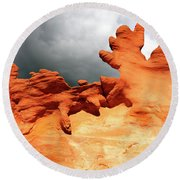 Round Beach Towel featuring the photograph Nature's Artistry Nevada 2 by Bob Christopher