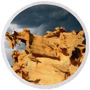 Round Beach Towel featuring the photograph Nature's Artistry Nevada 3 by Bob Christopher