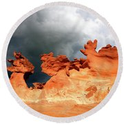 Round Beach Towel featuring the photograph Nature's Artistry Nevada by Bob Christopher