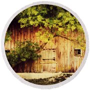 Natures Awning Round Beach Towel by Julie Hamilton