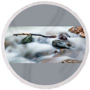 Natures Balance - White Water Rapids Round Beach Towel
