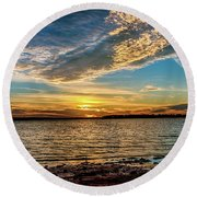 Natures Beauty Round Beach Towel by Doug Long