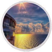 Natures Beauty At Sea Round Beach Towel