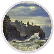 Natures Beauty Unleashed Round Beach Towel by James Heckt