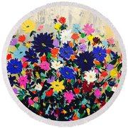 Natures Bouquet  Round Beach Towel
