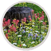 Nature's Bouquet Round Beach Towel
