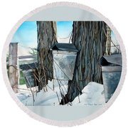 Nature's Candy Round Beach Towel