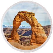 Nature's Delicate Balance Round Beach Towel