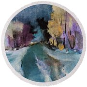 Nature's Ebb And Flow Round Beach Towel by Michele Carter