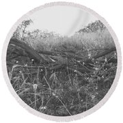 Nature's Fences Round Beach Towel