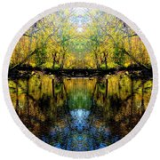 Natures Gate Round Beach Towel