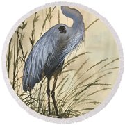 Nature's Harmony Round Beach Towel
