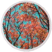 Natures Magic - Orange Round Beach Towel