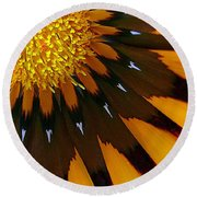 Round Beach Towel featuring the photograph Nature's Pinwheel by Marion Cullen