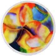 Nature's Pinwheels Round Beach Towel by Stephen Anderson