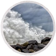 Round Beach Towel featuring the photograph Nature's Power by Rod Best