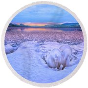 Round Beach Towel featuring the photograph Nature's Sculpture by John Poon