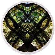 Natures Stain Glass Round Beach Towel