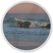 Round Beach Towel featuring the photograph Natures Wave by  Newwwman