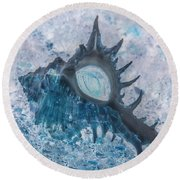 Round Beach Towel featuring the photograph Nautical Beach And Fish #13 by Debra and Dave Vanderlaan