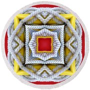 Nautical Knots Kaleidoscope Round Beach Towel