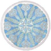 Nautical Mandala 2 Round Beach Towel by Stephanie Troxell