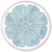 Nautical Mandala Round Beach Towel by Stephanie Troxell
