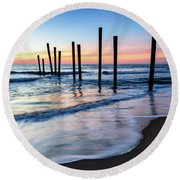 Nautical Morning Round Beach Towel