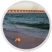Nautilus And Pier Round Beach Towel