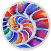 Nautilus Curves Round Beach Towel