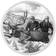 Navada Hunt 2015 Round Beach Towel by Peter Piatt