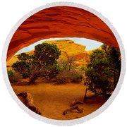 Navajo Arch Round Beach Towel