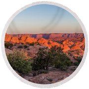 Navajo Land Morning Splendor Round Beach Towel