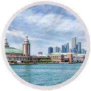 Navy Pier - Chicago Round Beach Towel