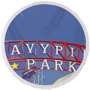 Navy Pier Round Beach Towel by Mary Machare